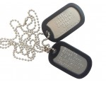 DULL DOG TAGS EMBOSSED
